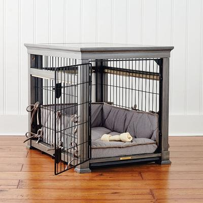 Luxury Pet Residence Dog Crate in Distressed Grey - Medium - Frontgate