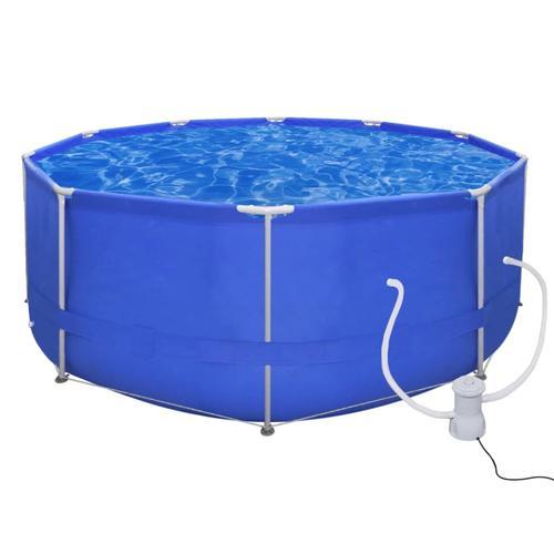vidaXL Schwimmbad Pool Schwimmbecken 367 x 122 cm + Pumpe