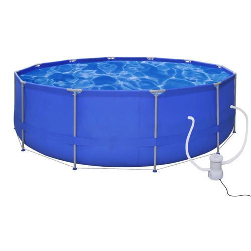 vidaXL Schwimmbad Pool Schwimmbecken 457 x 122 cm + Pumpe