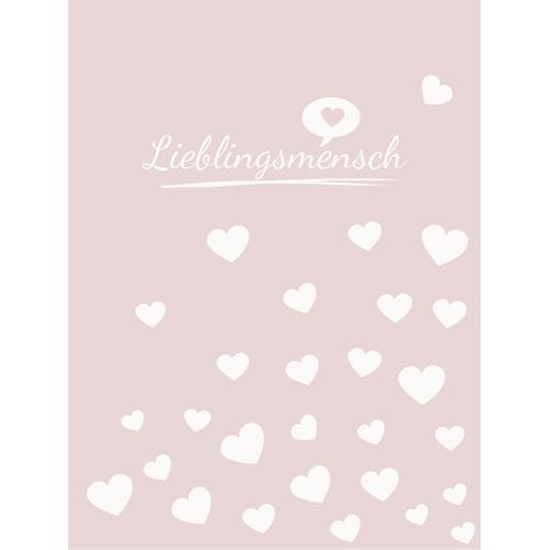 Magma Heimtex Wohndecke Lieblingsmensch, mit tollem Lieblingsmensch Schriftzug rosa Baumwolldecken Decken
