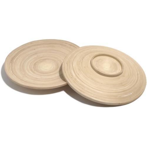 Franz Müller Flechtwaren Teller Bamboo, (Set, 2 St.), Bambus beige Geschirr, Porzellan Tischaccessoires Haushaltswaren