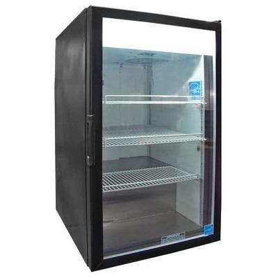 "Excellence Industries CTM-7HC 21 1/4"" Countertop Refrigerator w/ Front Access - Swing Door, Black, 115v"