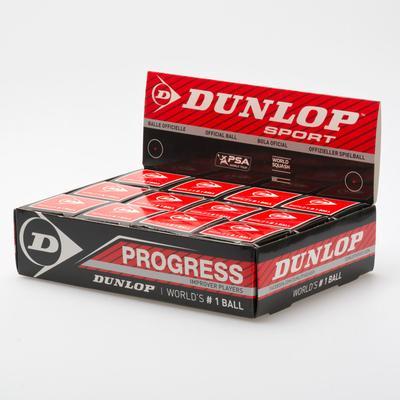 Dunlop Progress 12 Balls Squash Balls