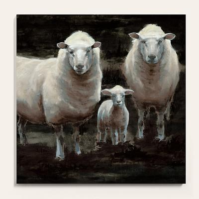 "The Flock Stretched Canvas 36"" x 36"" - Ballard Designs"