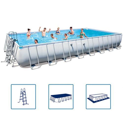 Bestway Power Steel Swimmingpool-Set Stahlrahmen 956×488×132cm 56623