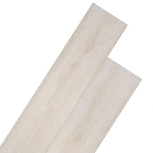 vidaXL PVC Laminat Dielen 5,26 m² 2 mm Eiche Klassisch Weiß