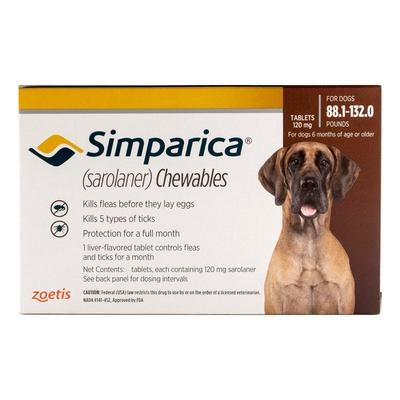 Simparica Chewables For Dogs Above 88 Lbs (Red) 6 Doses