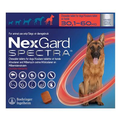 Nexgard Spectra For Xlarge Dogs 66-132 Lbs (Red) 3 Pack