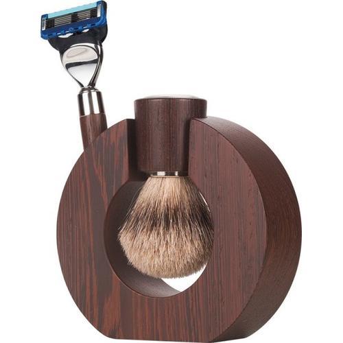 Mondial Exclusive Sphaera Shaving Set Fusion Rasierer + Silvertip Rasierpinsel Rasierset