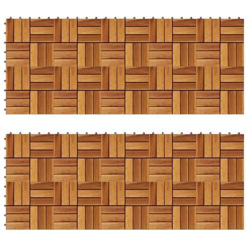 vidaXL Terrassenfliesen 20er Set Akazie 30 x 30 cm