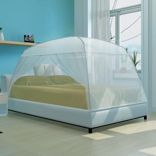 vidaXL Moskitonetz Bett zwei Türe Set 200 x 180 x 150 cm