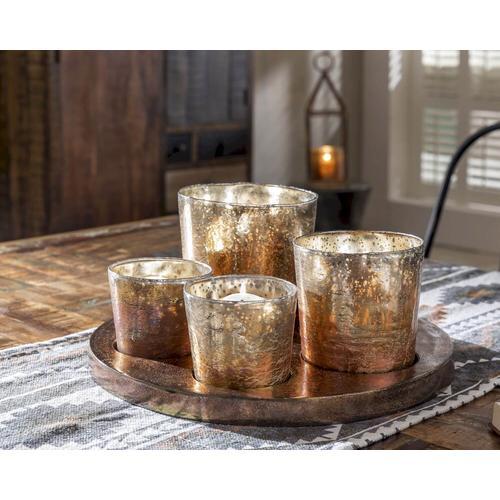 die Faktorei Teelicht-Tablett mit Gläsern inkl. 4 Gläser