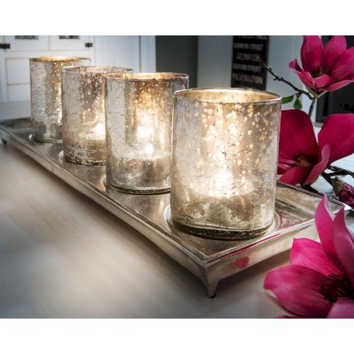 die Faktorei Teelichthalter 5-teilig 1 Schale, 4 Gläser