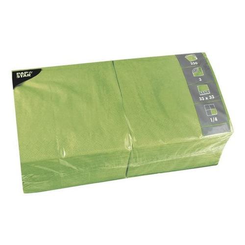 250er-Pack Servietten grün, Papstar, 33x33 cm