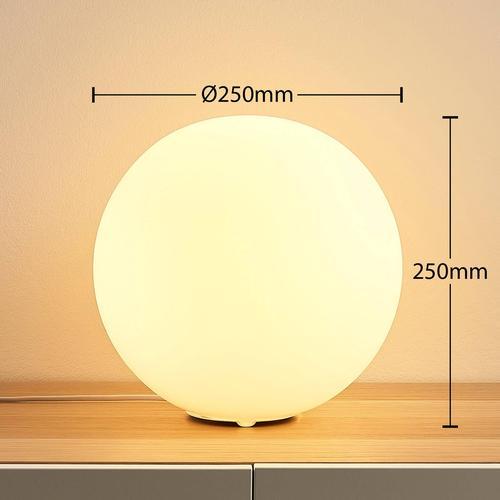 Lindby Smart LED-RGB-Tischlampe Rhona, Kugel