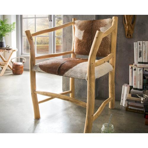 die Faktorei Unikat-Sessel echtes Ziegenfell