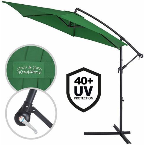 Sonnenschirm Ampelschirm Alu Ø300cm UV-Schutz 40+ Marktschirm Kurbelsonnenschirm wasserabweisend
