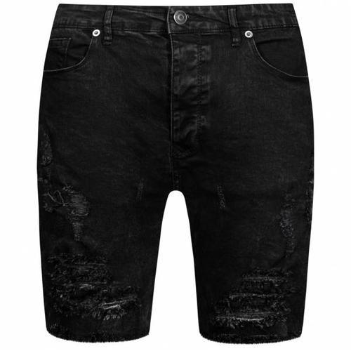 BRAVE SOUL Morton Denim Herren Ripped Jeans Shorts MSRT-MORTON