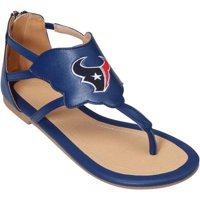 Women's Houston Texans Cuce Navy Gladiator Sandals