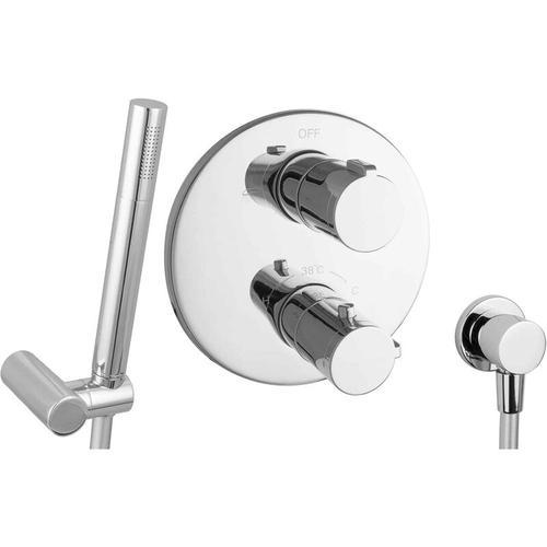 Set für Badewannen mit Thermostat ohne Wanneneinlauf