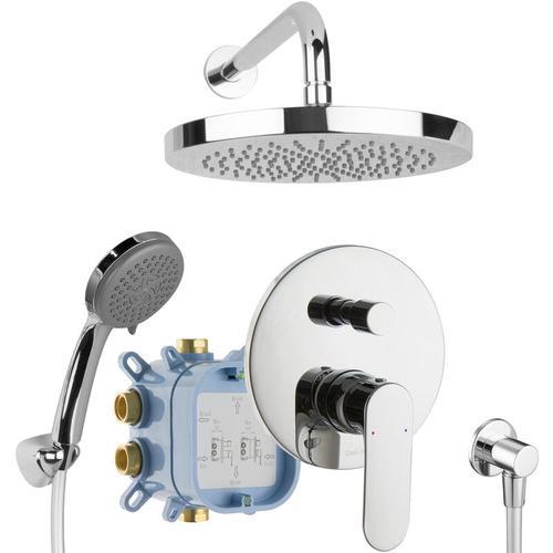 Duschsystem Komplett Set Duschset Fertigmontage Regendusche