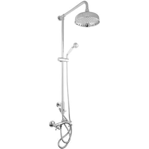 Aufputz Duschsystem im Retro Nostalgie Design