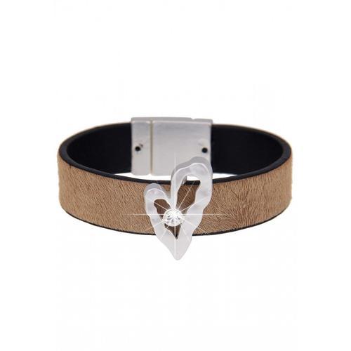 leslii Armband, mit Kunstfellbesatz braun Damen Armbänder Schmuck Armband