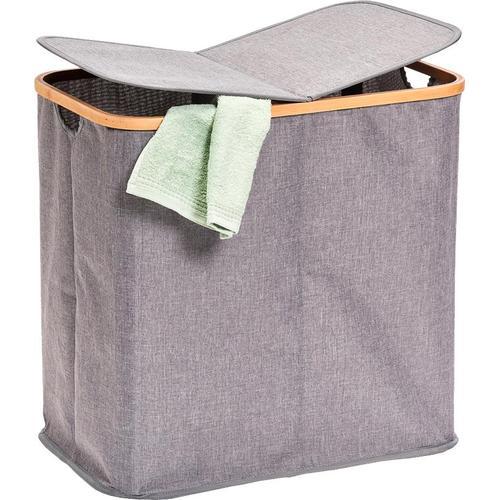 Zeller Present Wäschesortierer, 2-fach grau Wäschesortierer Wäschekörbe Wäschetruhen Badmöbel