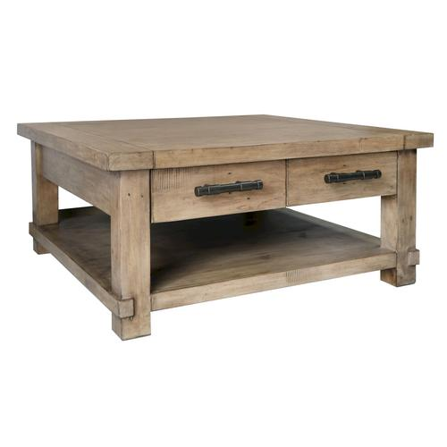 The Wood Times Industrial Couchtisch B 100 x H 46 x T 100 cm