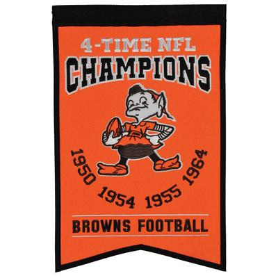 """Cleveland Browns 14"""" x 22"""" Champs Banner"""