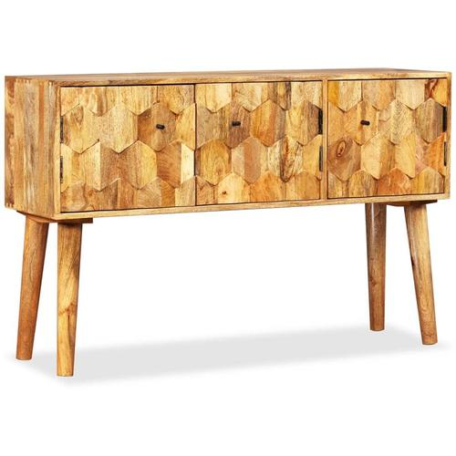 Sideboard Mangoholz Massiv 118 x 35 x 75 cm
