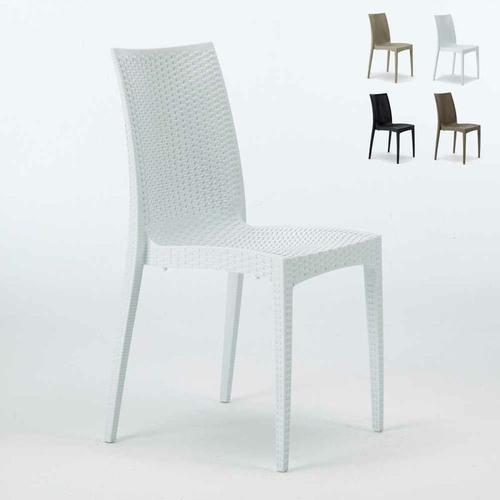 Sessel Stühle Gartenstühle Terrasse Bistrot Weiß - Grand Soleil