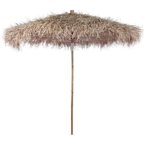 Bambus-Sonnenschirm mit Bananenblatt-Dach 210 cm