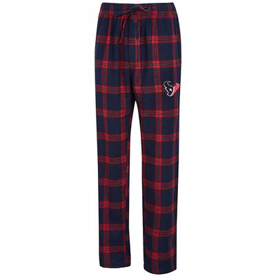 Men's Concepts Sport Navy/Red Houston Texans Big & Tall Homestretch Flannel Pants
