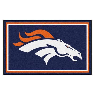Denver Broncos 4' x 6' Nylon Team Rug