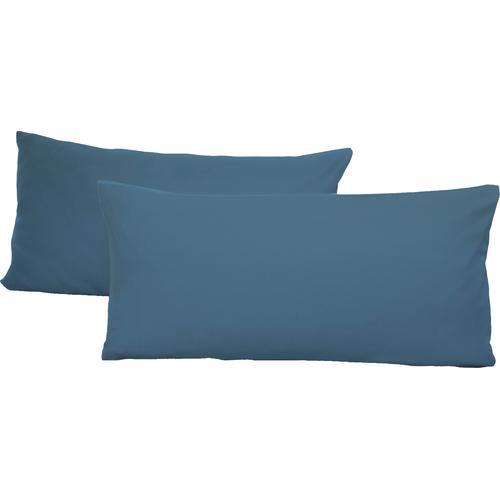 Schlafgut Kissenbezüge Jersey, (2 St.), mit Aloe Vera Ausrüstung blau gemustert Kissen