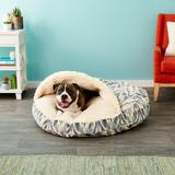 Snoozer Pet Products Microsuede Cozy Cave Dog & Cat Bed, Tempest Spring, X-Large
