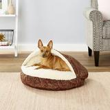 Snoozer Pet Products Orthopedic Microsuede Cozy Cave Dog & Cat Bed, Laurel Cayenne, Small