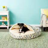 Snoozer Pet Products Orthopedic Microsuede Cozy Cave Dog & Cat Bed, Tempest Spring, X-Large