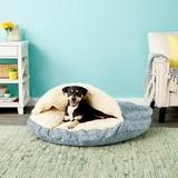 Snoozer Pet Products Orthopedic Microsuede Cozy Cave Dog & Cat Bed, Palmer Indigo, X-Large