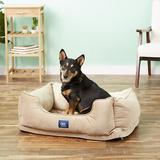 Serta Orthopedic Bolster Dog Bed w/Removable Cover, Tan