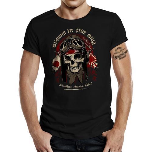 GASOLINE BANDIT T-Shirt mit provokantem Aufdruck schwarz Herren Shirts T-Shirts (kurzarm)