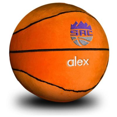 """Orange Sacramento Kings Personalized Plush Baby Basketball"""