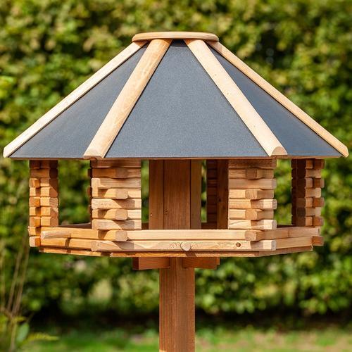 VOSS.garden Tofta - hochwertiges Vogelhaus aus Holz mit Metalldach