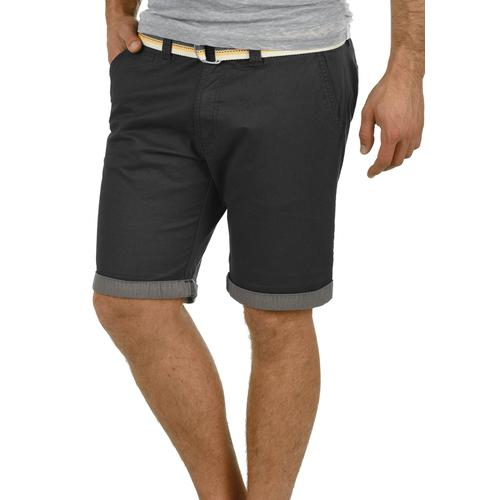 Solid Chinoshorts Lagos, (mit abnehmbarem Gürtel), kurze Hose mit Gürtel schwarz Herren Chinohosen Hosen