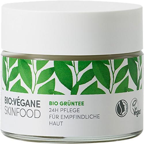Bio:Végane Skinfood Bio Grüntee 24h Pflege für empfindliche Haut 50 ml Gesichtscreme
