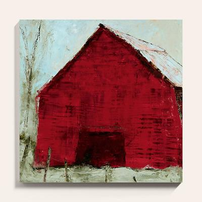 "Red Barn Art 30"" x 30"" - Ballard Designs"