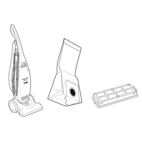 Staubsaugerbeutel, (10 Stck.) weiß Staubsauger SOFORT LIEFERBARE Haushaltsgeräte Staubsaugerbeutel