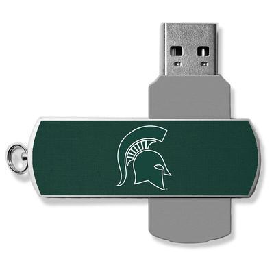 Michigan State Spartans 16GB Metal Twist USB Flash Drive