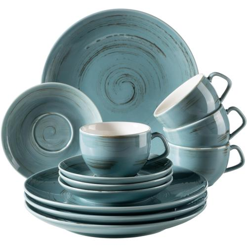 Home affaire Kaffeeservice, (12 tlg.), Porzellan blau Geschirr-Sets Geschirr, Tischaccessoires Haushaltswaren Kaffeeservice